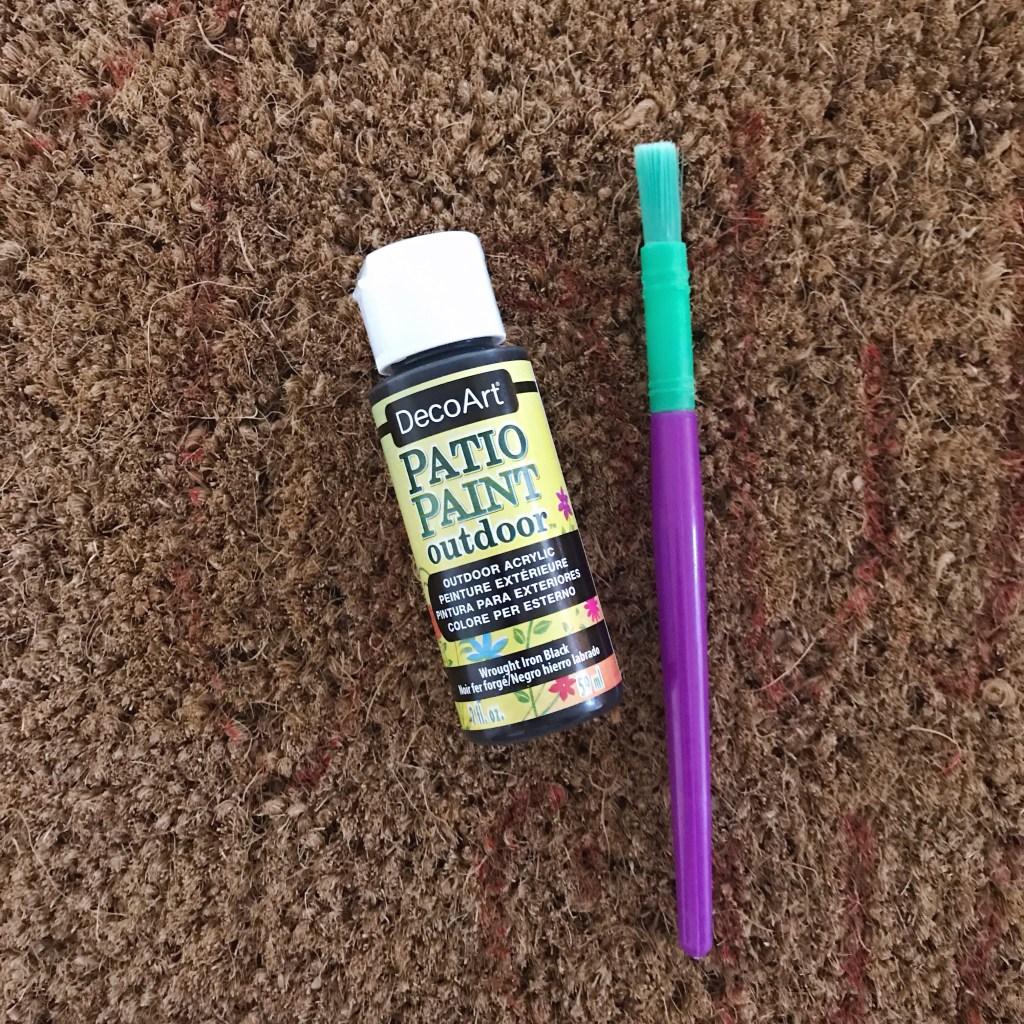 DIY doormat supplies