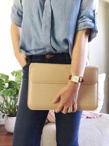 Stylish Macbook case, Snugg nude faux leather Macbook case, stylish accessories