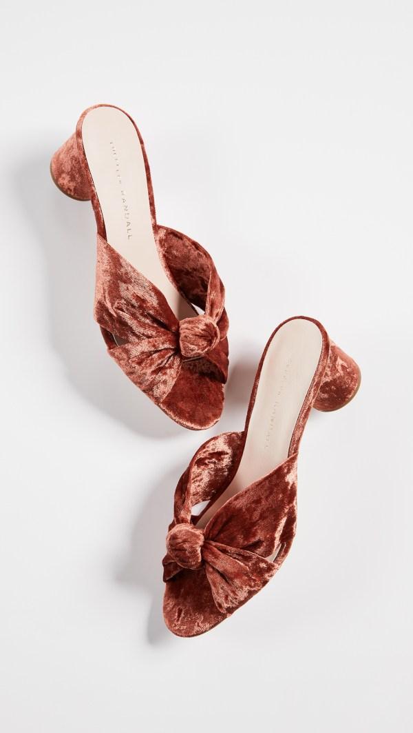 Loeffler Randall Celeste Velvet Knot Slides