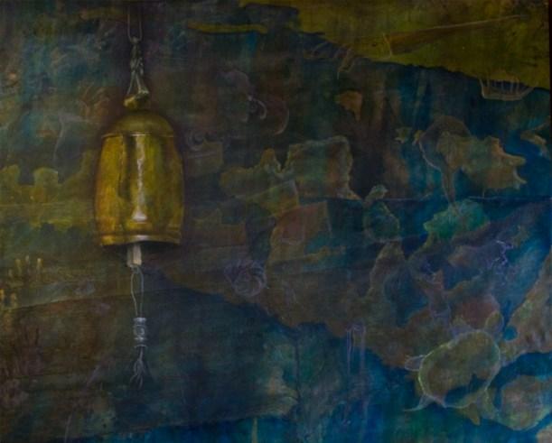 """Manitoulin, 2004. 60"""" x 70"""", mixed media Acrylic on canvas. $3,150.00"""
