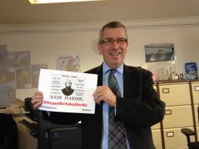 Dave Stewart MSP supporting #HappyBirthdayHardie