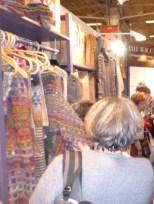Fine knit scarves at Elle Tricote