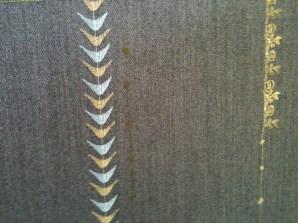 Borders design woollen wall covering