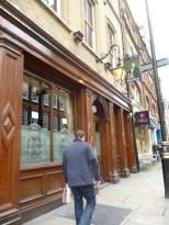 John Snow pub, side entrance