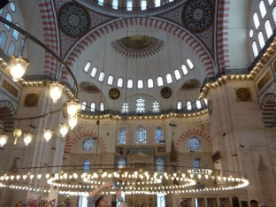Interior Suleymaniye Mosque