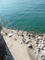 Rocky point at eastern end of Atrani Beach - great swimming spot