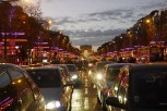 Champs Elysees red blue