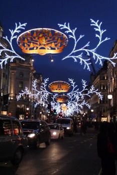 Regent Street, 12 days of Christmas street decorations