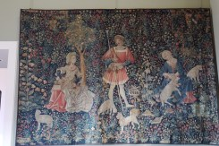 """15th C tapestry """"Le travail de la Laine"""""""