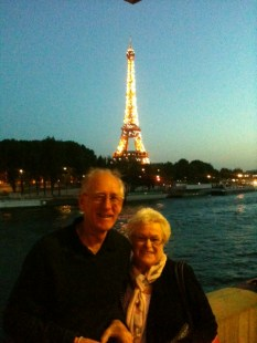 The Eiffel Tower sparkles