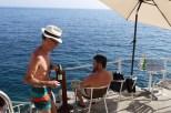 Post swim refreshment at Buza Cafe