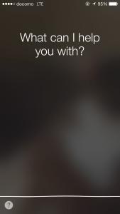 Siri画面