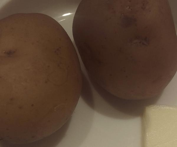ジャガイモの付け合わせ