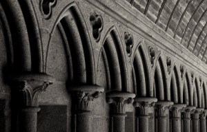 Courtyard, Abbaye du Mont-Saint Michel