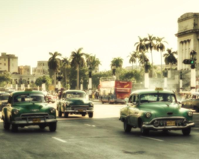 Taxis on Paseo del Prado, Habana Vieja, Cuba