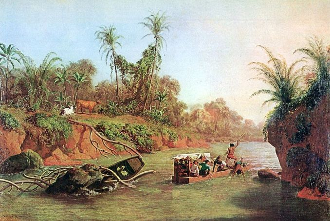 Crossing Panama Via the Chagres River by Charles Christian Nahl [Public domain]