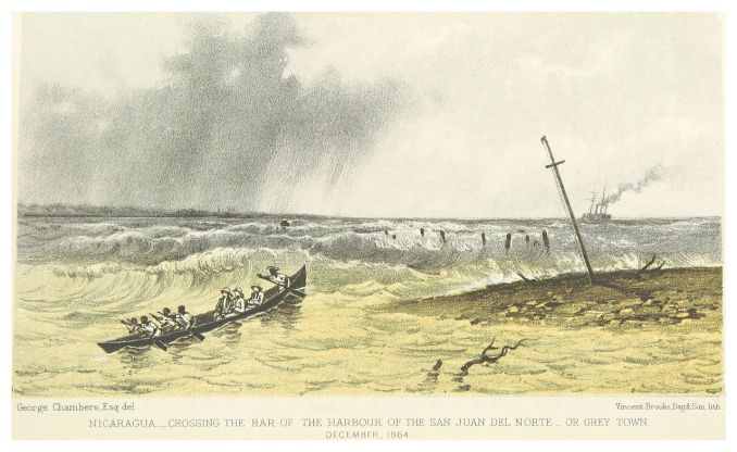 Crossing the Bar of the Harbour of San Juan del Norte by George Chambers [Public Domain]