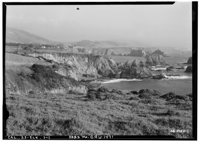 The town of Elk from Cuffey's Cove [public domain]