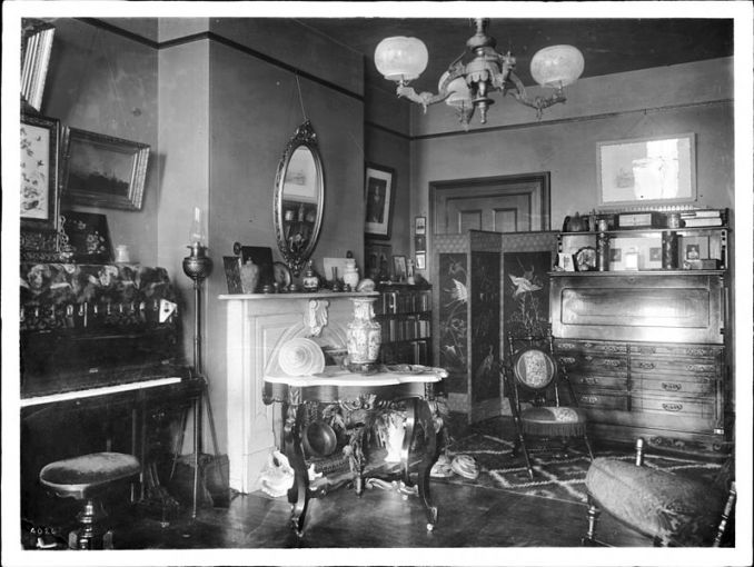 Ina Coolbrith's library in her Russian Hill home
