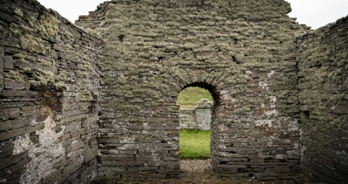 Image of the inside of St. Mary's Chapel, Wyre, Orkney