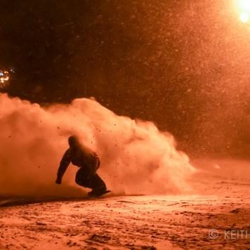 Night riding Japan, Richie Johnston snowboarding