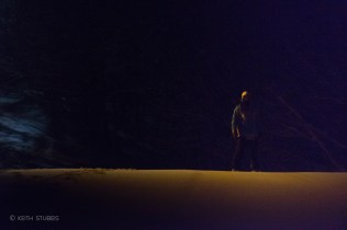 Jack Spense waiting to drop in the Aomori Spring pipe at night