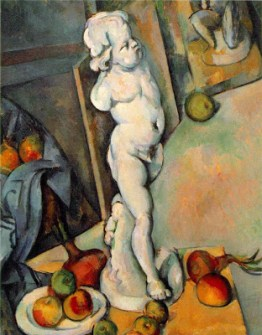 Paul Cezanne 'Still life with plaster cupid' 1895
