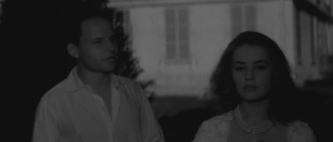 Jeanne Moreau and Jean-Marc Bory in The Lovers
