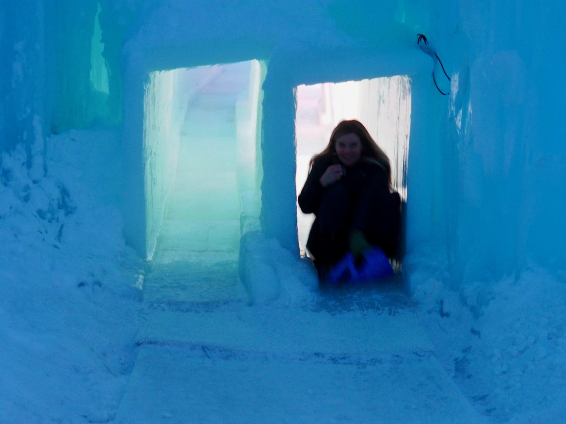 The ice slides are SO MUCH FUN!