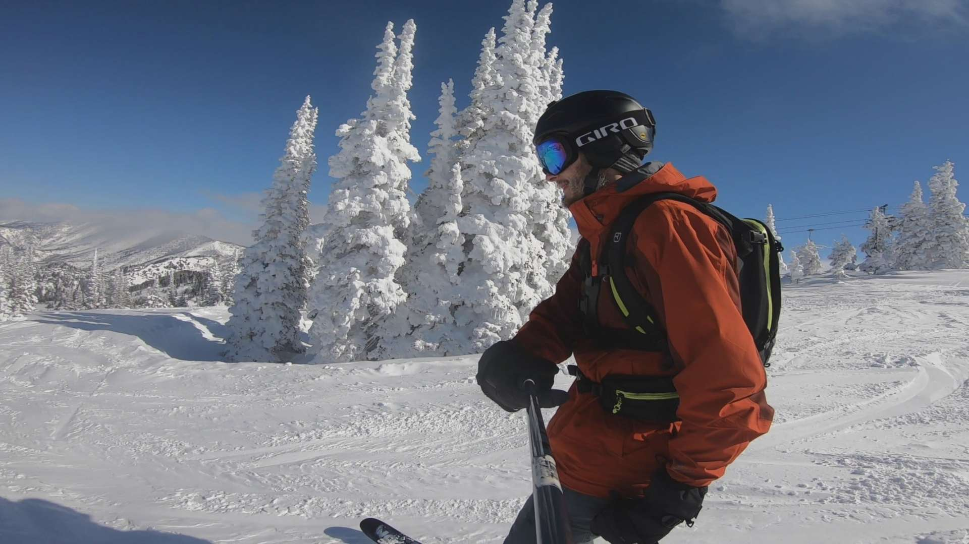 skiing Powder Mountain