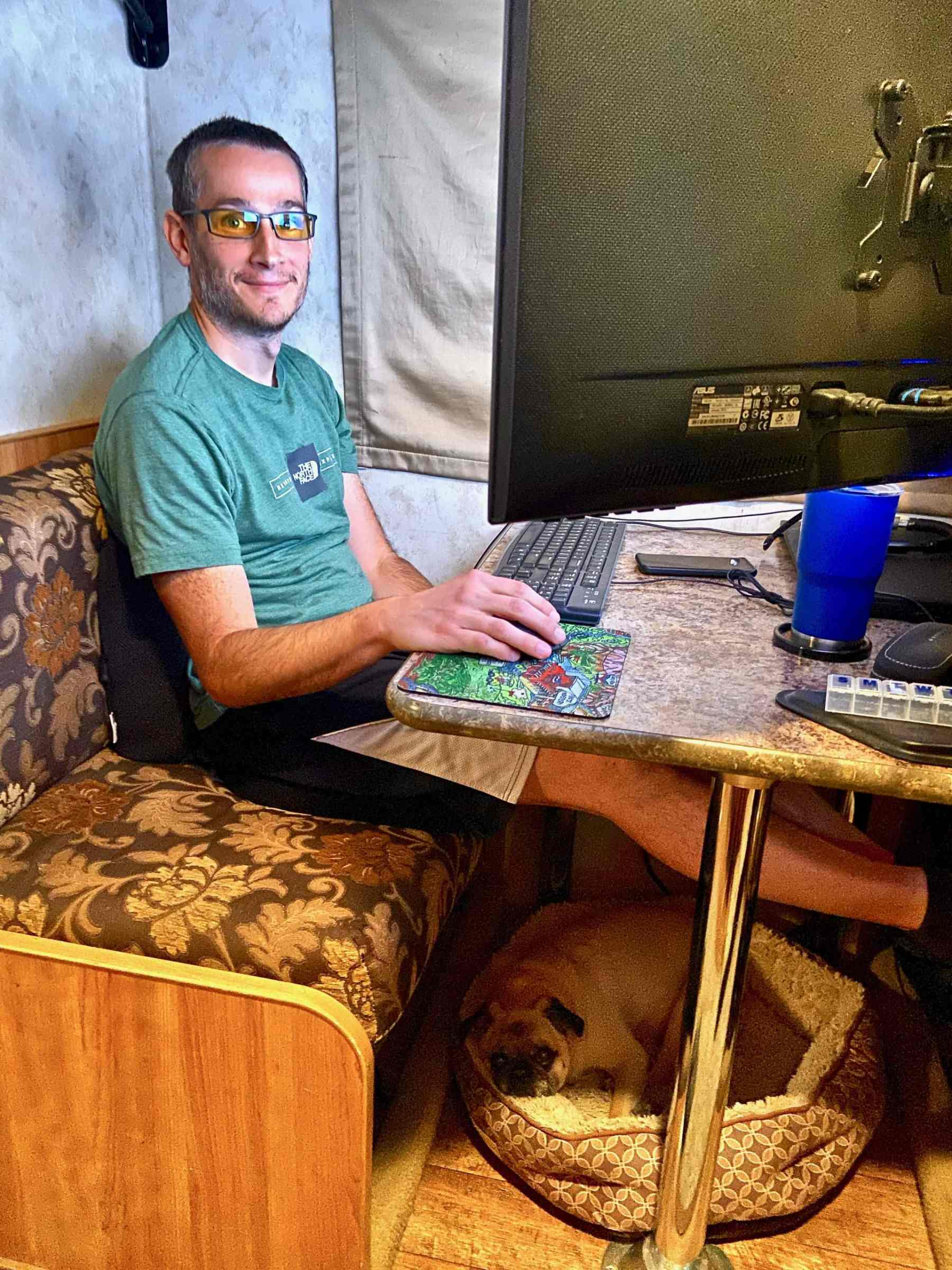 working from the motorhome October 2019