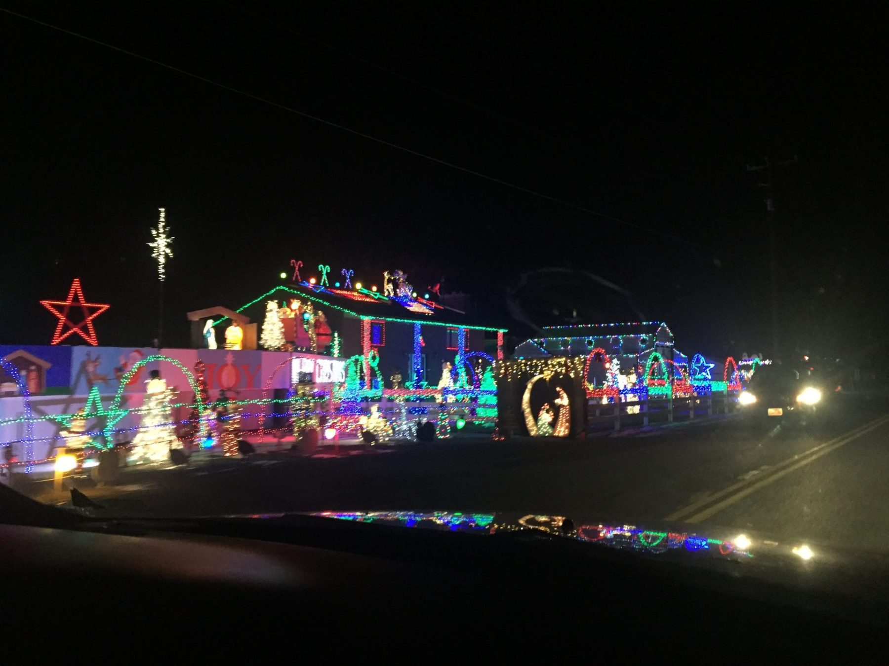 A local house with a big display!