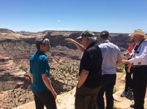 Sec. Sally Jewell and Randy Johnson at the Wedge/Little Grand Canyon