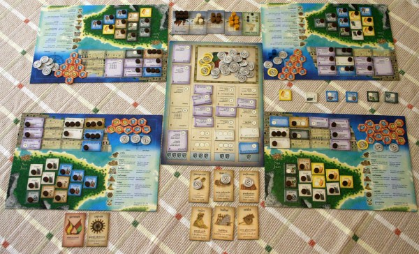 A Puerto Rico game in progress.