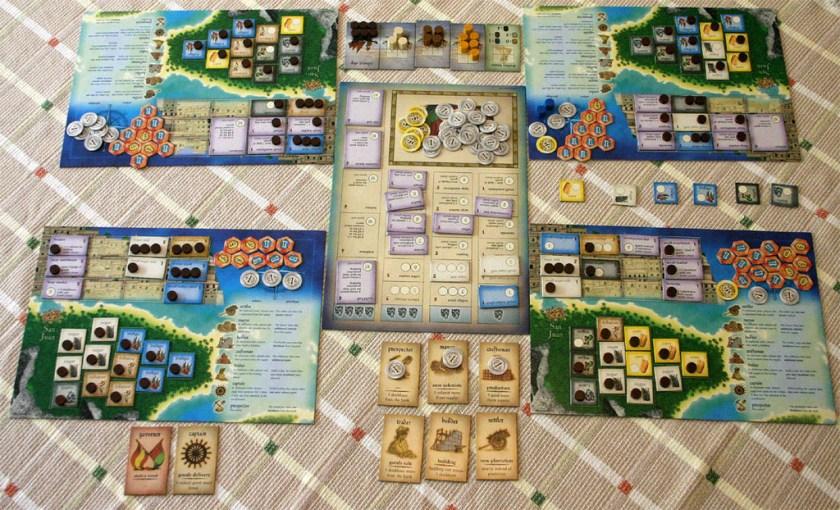 A Puerto Rico game in progress.