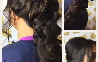 Beautiful hairstyle for events in Belfast