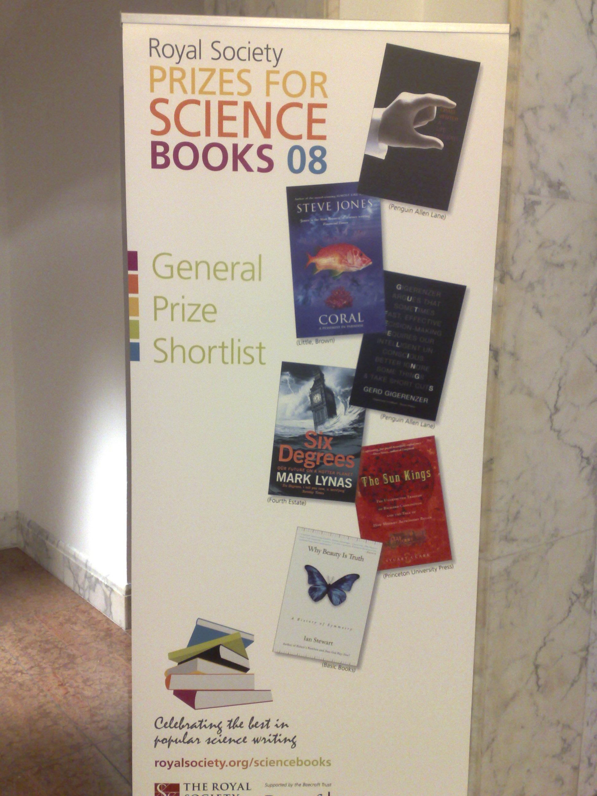 Royal Society General Prize Shortlist