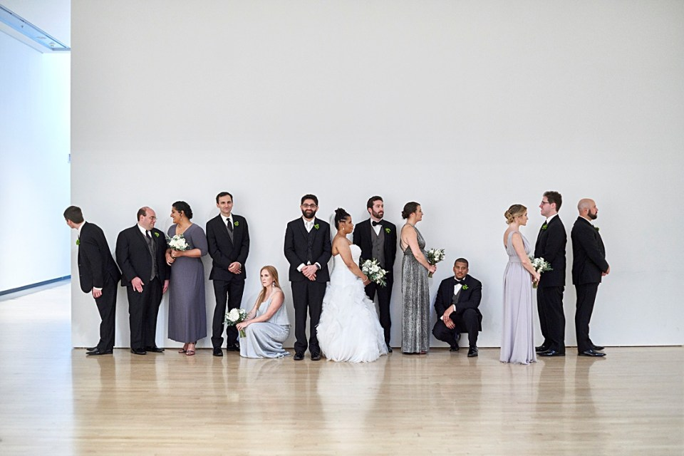 Wedding formal at the PHoenix Art Museum