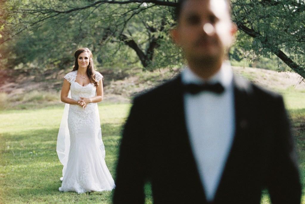 first look bride and groom Tucson wedding