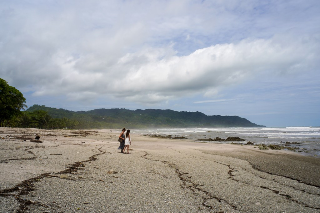 walking on the beach in Santa Teresa Costa Rica