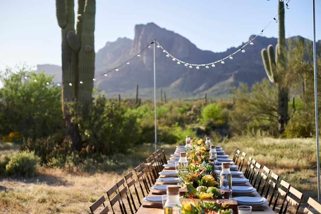 private event, cloth & flame Superstition Mountains