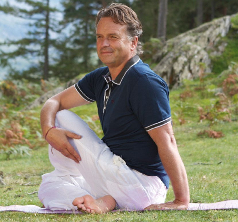 Keith squires doing yoga