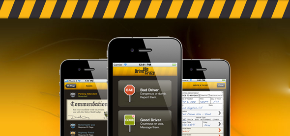 DriveMeCrazy | iPhone App for Road Rage