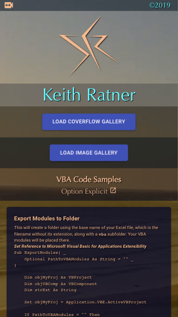 keithratner.live React Front-End UX and UI