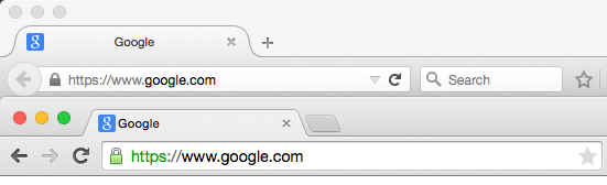 Firefox and Chrome have different locations for their Refresh buttons