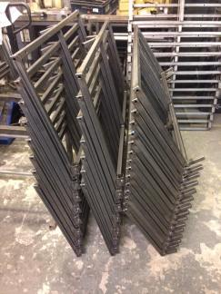 fabricated high seats ready for the finishers