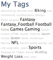 tags screenshot