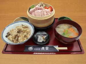 豚ロース蒸し野菜定食