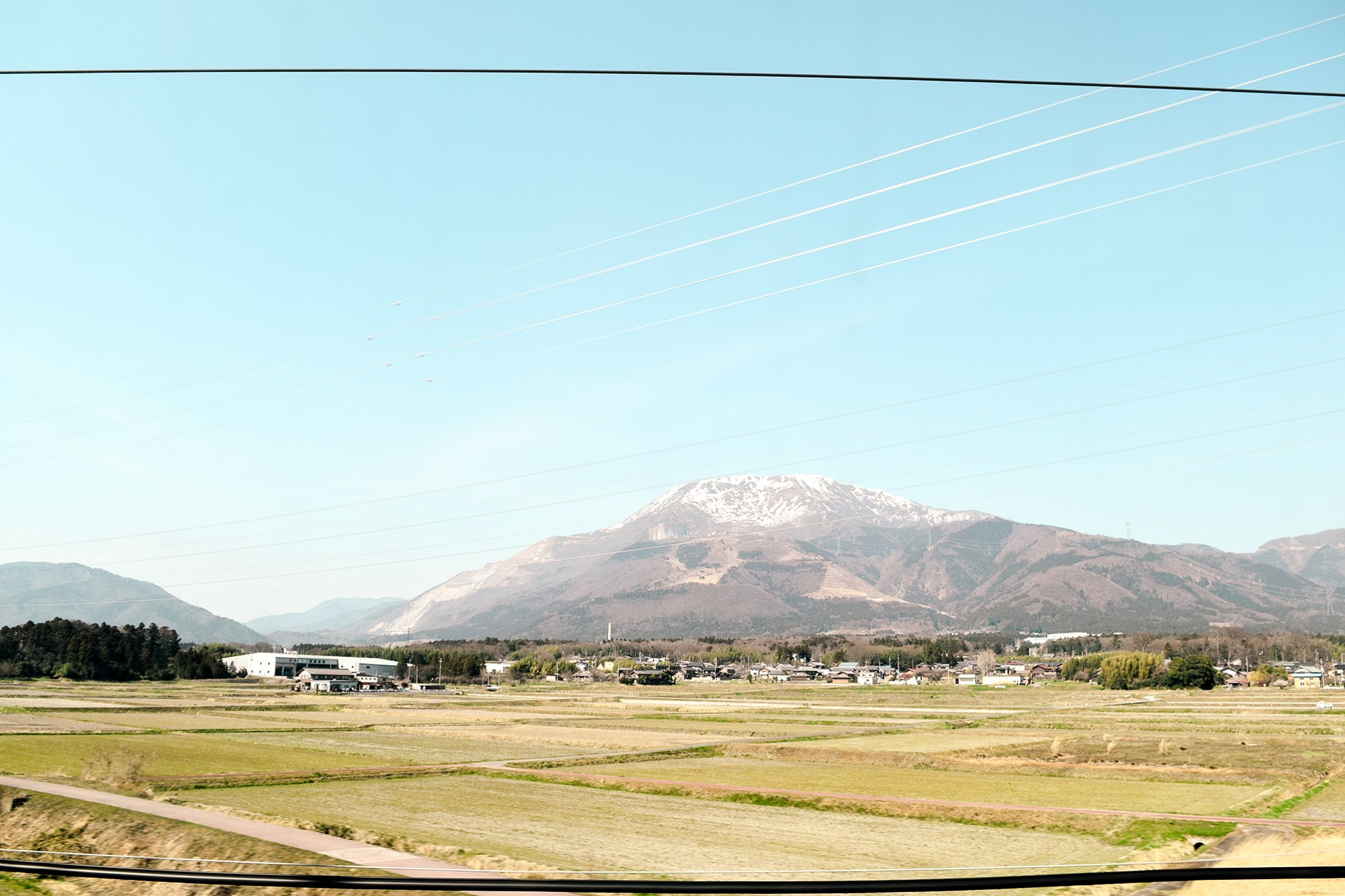 View from the bullet train ride. Actually saw Mt. Fuji really close too.