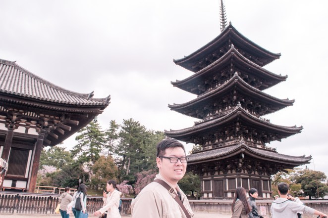 Ander with the famous Five-storied Pagoda
